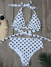 Women'S Colorful Printed Beach Wear Summer Swimsuit-Polka Dot 1