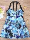 Fashion Printed Swimwear With Straps-Sky Blue 3