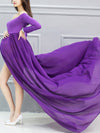 Sexy Off Shoulder Long Maternity Formal Dresses For Shoot-Purple 3