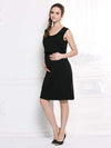 Fashion Breastfeeding Sleeveless Bottoming Maternity Dress-Black 2