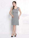 Fashion Breastfeeding Sleeveless Bottoming Maternity Dress-Deep Grey 1