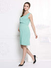 Fashion Breastfeeding Sleeveless Bottoming Maternity Dress-Mint Green 3