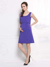 Fashion Breastfeeding Sleeveless Bottoming Maternity Dress-Purple 2