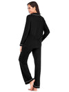 Women'S Long-Sleeve Full-Length Cosy Home Suit-Black 2