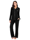 Women'S Long-Sleeve Full-Length Cosy Home Suit-Black 4