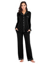 Women'S Long-Sleeve Full-Length Cosy Home Suit-Black 1