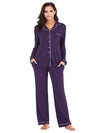 Women'S Long-Sleeve Full-Length Cosy Home Suit-Purple 3