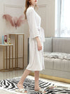 Fashion Tie Waist Thin Casual Robes For Women-White 2