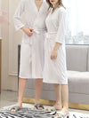 Fashion Tie Waist Thin Casual Robes For Women-White 3
