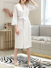 Fashion Tie Waist Thin Casual Robes For Women-White 1