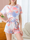 Gorgeous Tie-Dye Pajama Sets With Shorts For Women-Orange 1