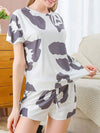 Gorgeous Tie-Dye Pajama Sets With Shorts For Women-White 1