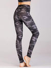 Skinny Printed Quick-Drying Yoga Sports Leggings-Green 3