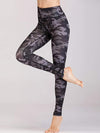 Skinny Printed Quick-Drying Yoga Sports Leggings-Green 1