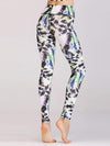 Skinny Printed Quick-Drying Yoga Sports Leggings-Multicolor 1