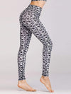 Skinny Printed Quick-Drying Yoga Sports Leggings-Black& White 1