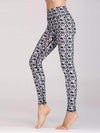 Skinny Printed Quick-Drying Yoga Sports Leggings-Black& White 2