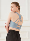 Women'S Fashion Beauty Back Sports Vest For Yoga-Sky Blue 2