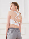 Women'S Fashion Beauty Back Sports Vest For Yoga-White 2