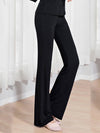 Elegant Flared Long Casual Pants For Dancing & Yoga-Black 3