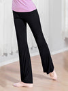 Elegant Flared Long Casual Pants For Dancing & Yoga-Black 4