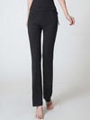 Elegant Flared Long Casual Pants For Dancing & Yoga-Black 1