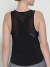 Casual Solid Color Fitness Yoga Vest Tops For Women-Black 2