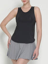 Casual Solid Color Fitness Yoga Vest Tops For Women-Black 3