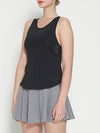 Casual Solid Color Fitness Yoga Vest Tops For Women-Black 4