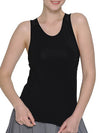 Casual Solid Color Fitness Yoga Vest Tops For Women-Black 1