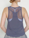 Casual Solid Color Fitness Yoga Vest Tops For Women-Grey 2