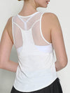 Casual Solid Color Fitness Yoga Vest Tops For Women-White 2