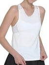 Casual Solid Color Fitness Yoga Vest Tops For Women-White 1
