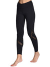 Comfy Quick-Drying Full-Length Sports Leggings-Black 1