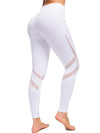Comfy Quick-Drying Full-Length Sports Leggings-White 2