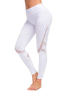 Comfy Quick-Drying Full-Length Sports Leggings-White 1