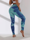 Women'S Exercise Comfy Tie-Dye Leggings For Sports-Sky Blue 1