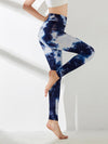 Women'S Exercise Comfy Tie-Dye Leggings For Sports-Navy Blue 3