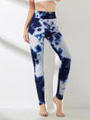 Women'S Exercise Comfy Tie-Dye Leggings For Sports-Navy Blue 4