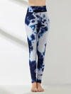 Women'S Exercise Comfy Tie-Dye Leggings For Sports-Navy Blue 1