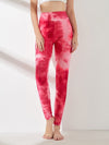 Women'S Exercise Comfy Tie-Dye Leggings For Sports-Pink 1