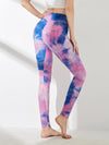 Women'S Exercise Comfy Tie-Dye Leggings For Sports-Purple 2