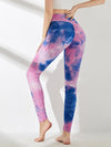 Women'S Exercise Comfy Tie-Dye Leggings For Sports-Purple 3
