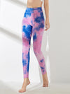 Women'S Exercise Comfy Tie-Dye Leggings For Sports-Purple 4