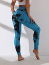 Women'S Exercise Comfy Tie-Dye Leggings For Sports-Sapphire Blue 1
