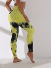 Women'S Exercise Comfy Tie-Dye Leggings For Sports-Yellow 1