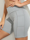 Fashion Basic High Waist Legging Shorts For Women-Grey 2