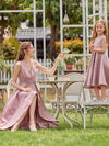 Simple Flower Girl Dresses For Wedding With Round Neck-Purple Orchid 7