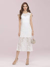 Gorgeous Round Neck Sleeveless Lace Party Dress-Cream 1
