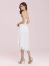 Plain Round Neck Lace & Chiffon Wedding Dress For Women-Cream 2